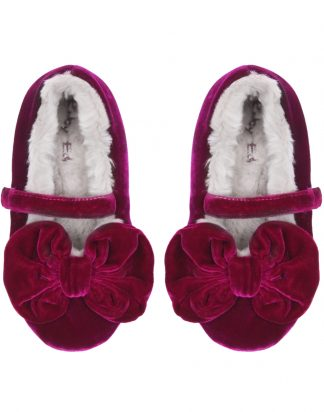 GIRLS ORCHID PINK SLIPPERS