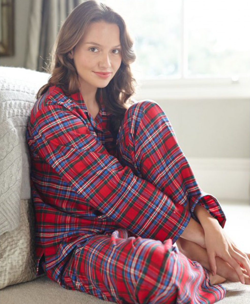 8f4358a25d Brushed Cotton Flannel Pyjamas - The Pyjama Store