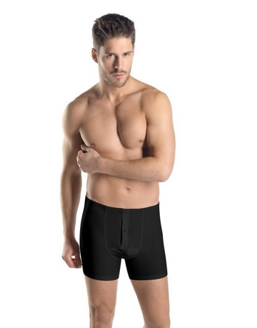 HANRO SUPERIOR BOXER BRIEF 0199 BLACK 3090
