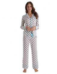 Coco Grey Dot Silk Pyjamas