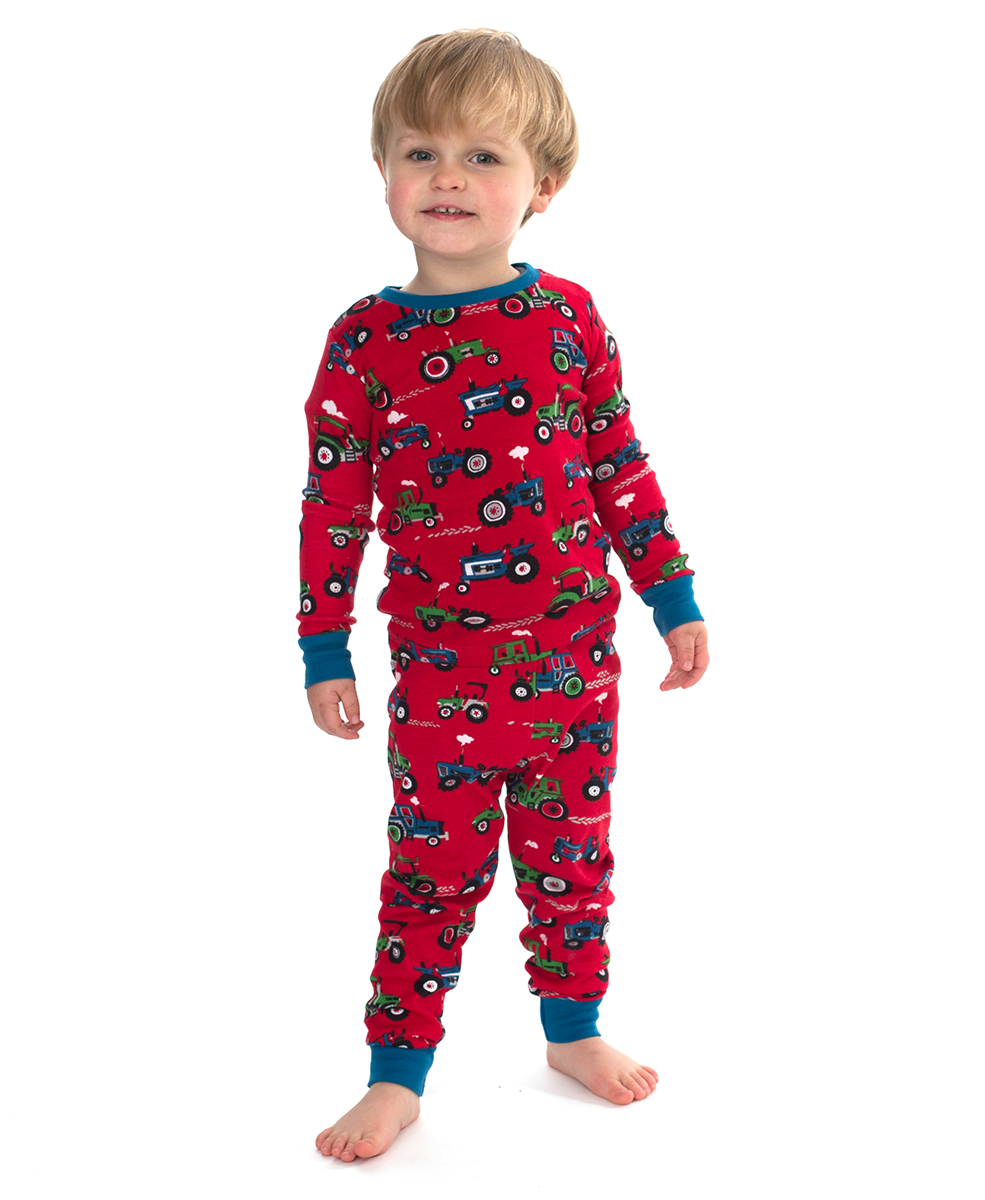 Hatley Red Farm Tractor Pyjamas The Pyjama Store