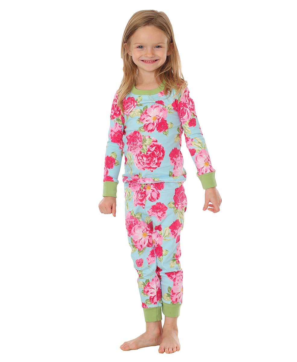 Girls Summer Cabbage Rose Pjs The Pyjama Store