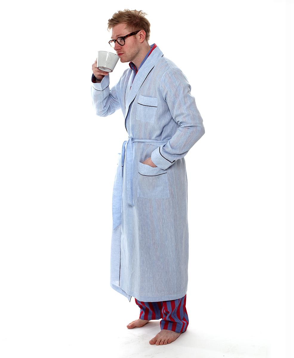 8d3a89e1c8 Luxury Sky Blue Robe - The Pyjama Store