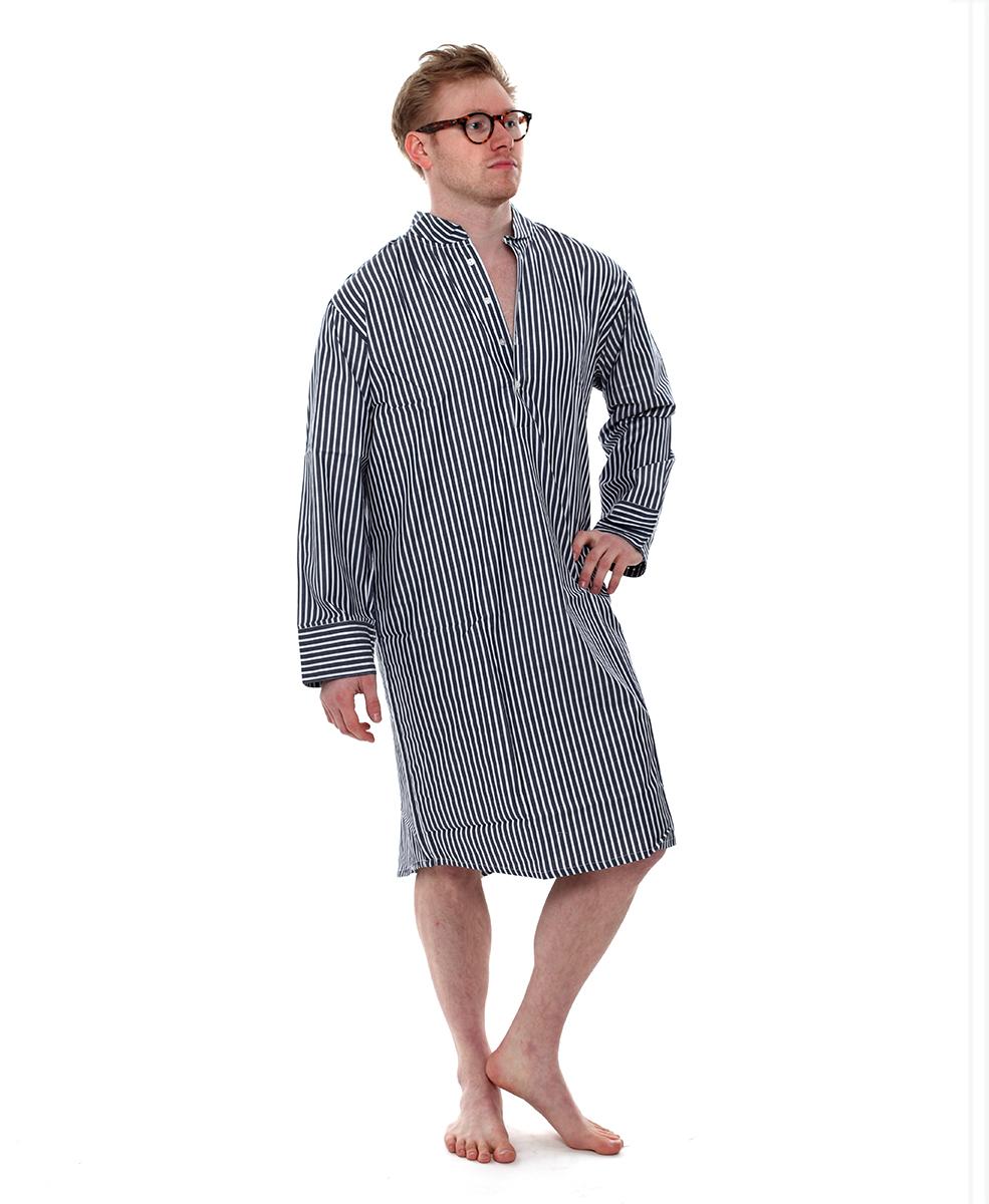 aeace0249c Denim Stripe Nightshirt - The Pyjama Store