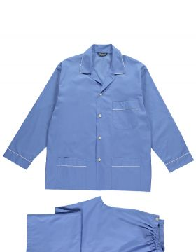 The Essential Mid Blue Tie-Waist PJs