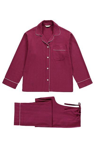 48f7e7eb15bd Mulled Wine Brushed Cotton PJ Set - The Pyjama Store
