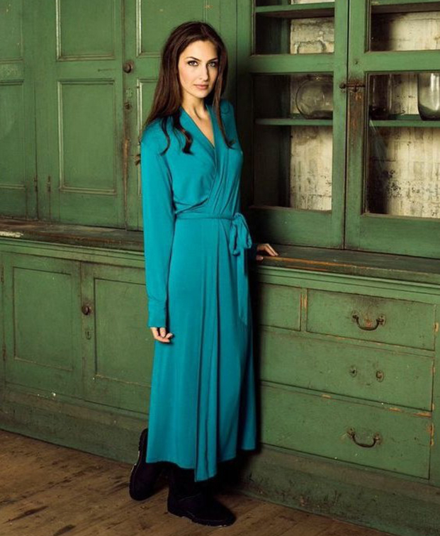 Teal Mon Cheri Women Robe