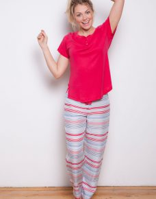 Heidi Striped PJ Pants and Knit Top Tee