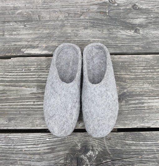 MIta Slippers Light Grey
