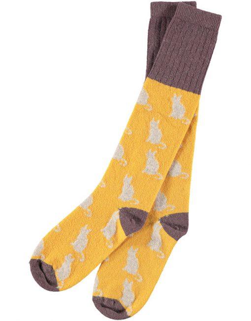 Lambswool Ginger Cat Knee Sock