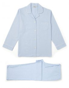Brushed Cotton Pyjamas Blue