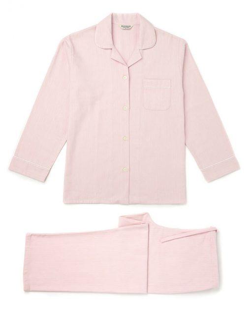 Brushed Cotton Pyjamas Blue