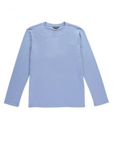 Plain Jersey Long Sleeved T-shirt Blue