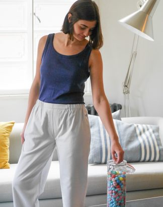 Jimbles Women's  Fine Grey Brushed Cotton PJ Bottoms
