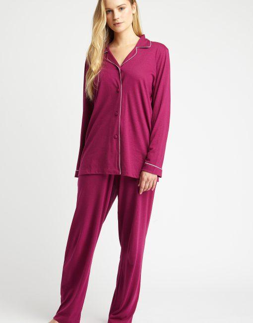 f82ac3cf6996 Berry Jersey Pyjamas - The Pyjama Store