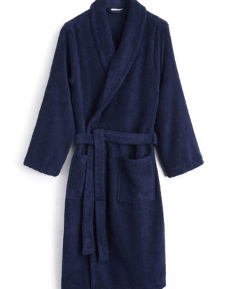 Bonsoir Towelling Bathrobe in Midnight Blue - Unisex